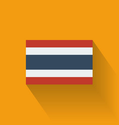 Flat flag of thailand vector