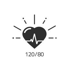 Good health icon blood pressure numbers vector image vector image