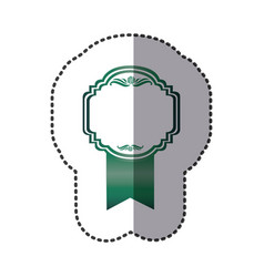 Green emblem with symbols inside icon vector
