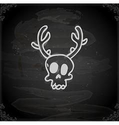 Hand Drawn Reindeer Skull vector image