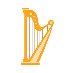 Harp part of musical instruments set of realistic vector
