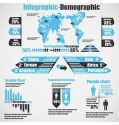 INFOGRAPHIC DEMOGRAPHIC NEW STYLE 10 HEAVENLY vector image vector image