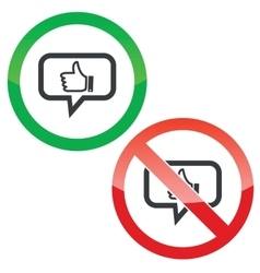 Like message permission signs vector