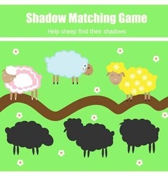 Match the shadow children game vector image