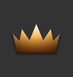 Modern golden crown on gray vector