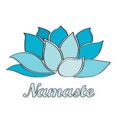 Namaste - lotus flower vector