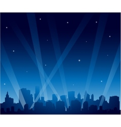 Party city at night vector