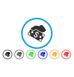 pay cash rounded icon vector image