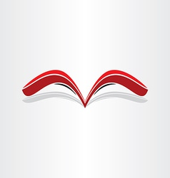 red book abstract stylized design vector image vector image
