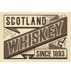 Retro whiskey label vector