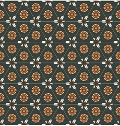 Seamless pattern with arrows and ethnic symbols vector