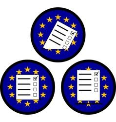 Signs of voting in eu vector
