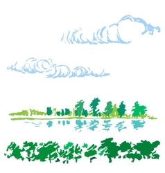 Sketch of nature landscape vector image