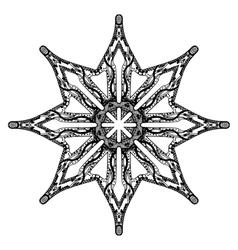 Star handdrawn pattern vector