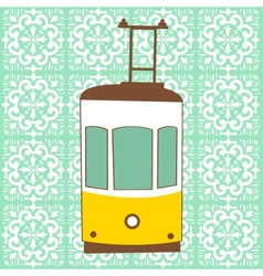 Traditional lisbon tram vector