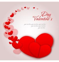 Valentine love heart background vector image vector image