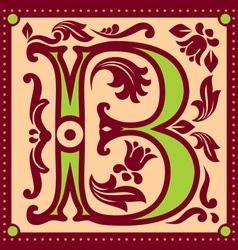 vintage letter B vector image vector image