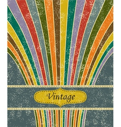 Vintage salute grunge background vector