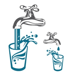 water tap image vector image
