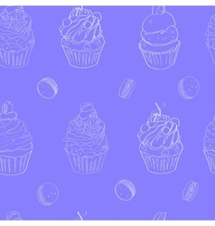 with the image of cakes pattern made vector image