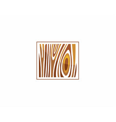 wood sign icon tree growth rings vector image