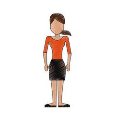 young woman cartoon vector image vector image