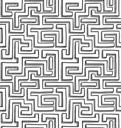 Seamless maze pattern vector image