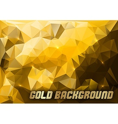 triangles gold vector image