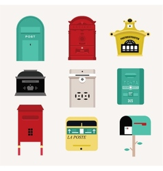 mail boxes vector image