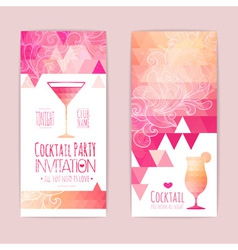 Cocktail geometric triangle banner vector