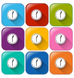 Clock buttons vector