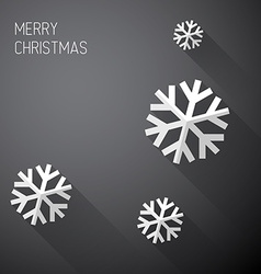 Modern minimalistic christmas card with long vector