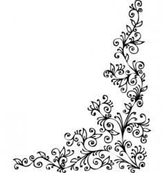 floral vignette cdxxii vector image