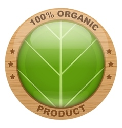 Icon of organic products vector