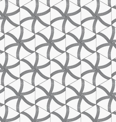 Repeating ornament gray hexagons with lines vector