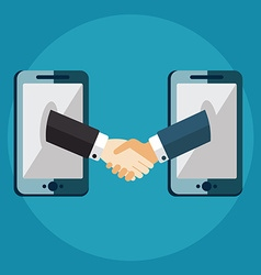 Business connection and relations handshake vector