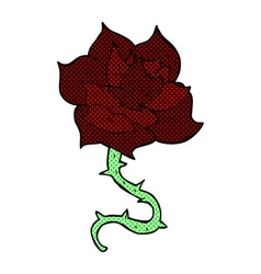 Comic cartoon rose vector