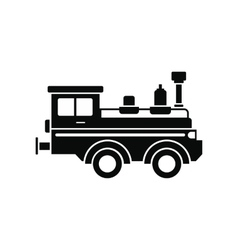 Train locomotive black simple icon vector