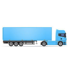 Truck semi trailer 04 vector