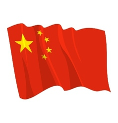 political waving flag of china vector image