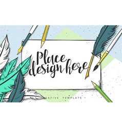 Template design concept sketch for marketing vector