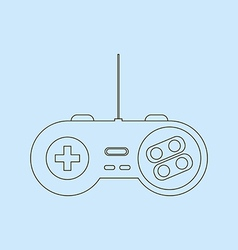 Gamepad joystick icon vector