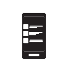 Flat icon in black and white sms message vector