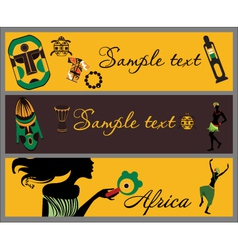african banners vector image