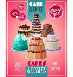 Baked Cakes Poster vector image
