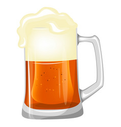beer mug isolated on a white background vector image