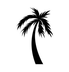 black icon palm cartoon vector image