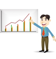 Business presentation vector image vector image