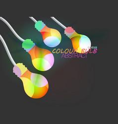 Colour bulb on gray vector