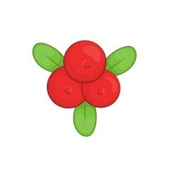 Cowberry icon cartoon style vector